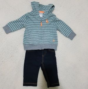 Carter's Jeans and Hoodie Set